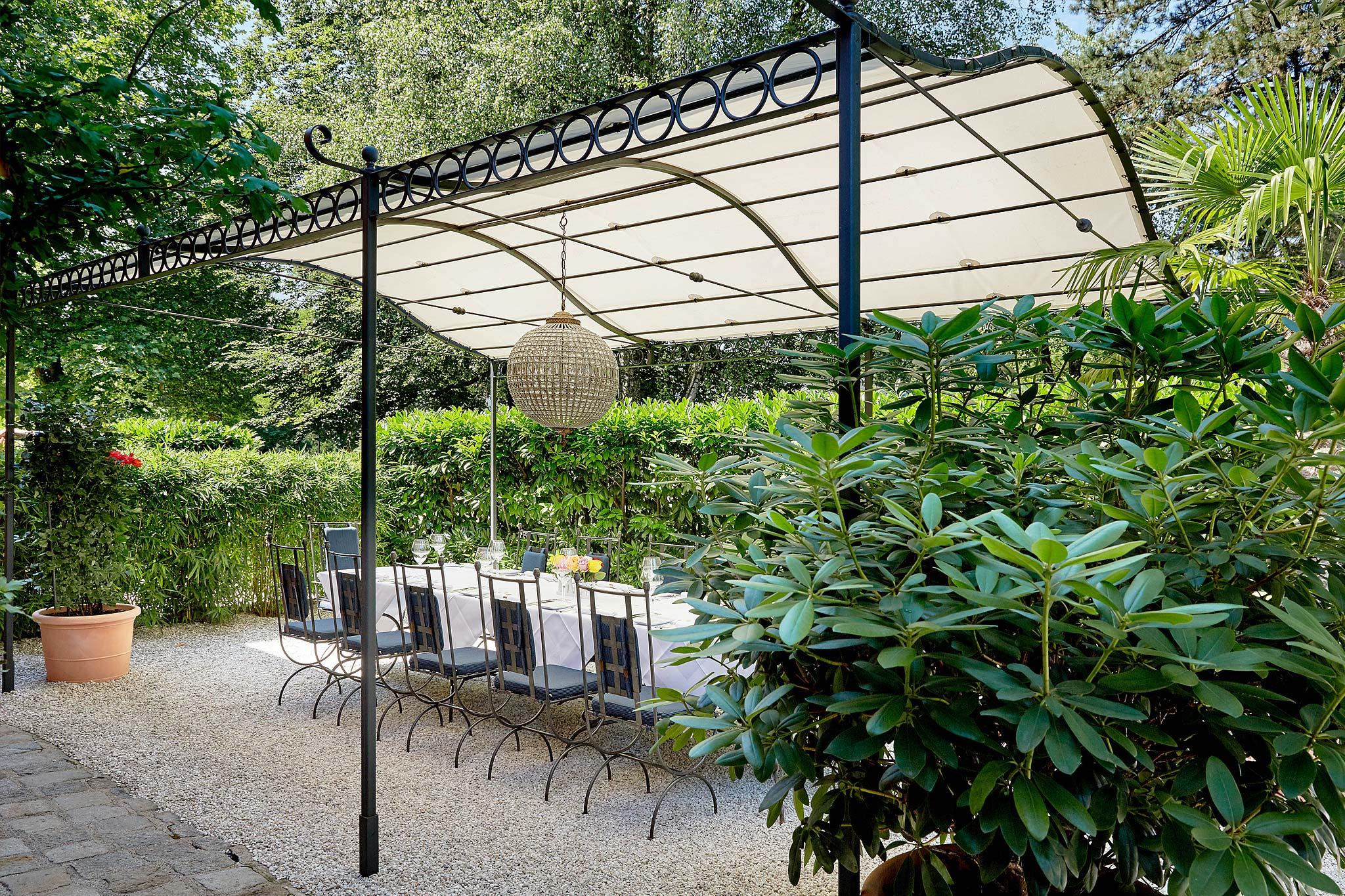 Der Garten des Restaurant Zum Bubergut Salzburg